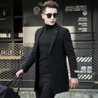 纳特·尤尼毛呢外套男短款西服韩版宽松冬季妮子外套青年羊毛大衣