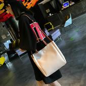 包包女2018夏季新款潮时尚撞色托特手提包学生韩版百搭斜挎单肩包