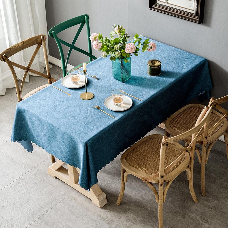 桌布布艺长方形餐桌布家用现代简约北欧风ins网红台布茶几垫桌垫