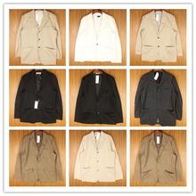 vintage复古中古英伦修身款商务休闲男式古着牛仔布西装外套X15