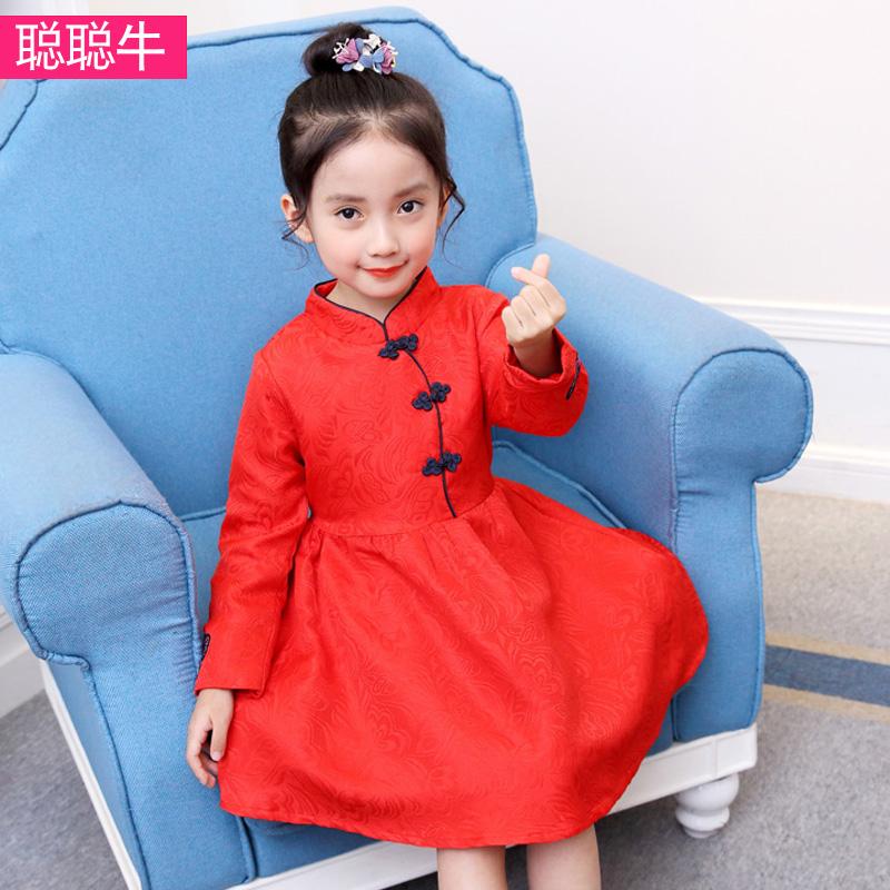 儿童唐装冬裙