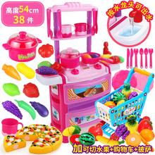 儿童仿真厨具宝宝做饭套装 女童2 8岁小孩过家家厨房玩具女孩5