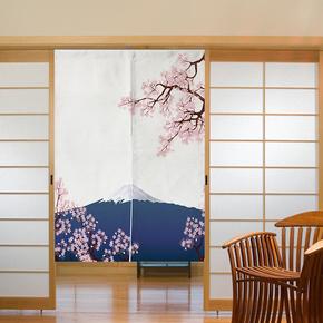 可定制日式门帘布艺棉麻卧室和风装饰帘加厚客厅风水窗帘厨房隔断