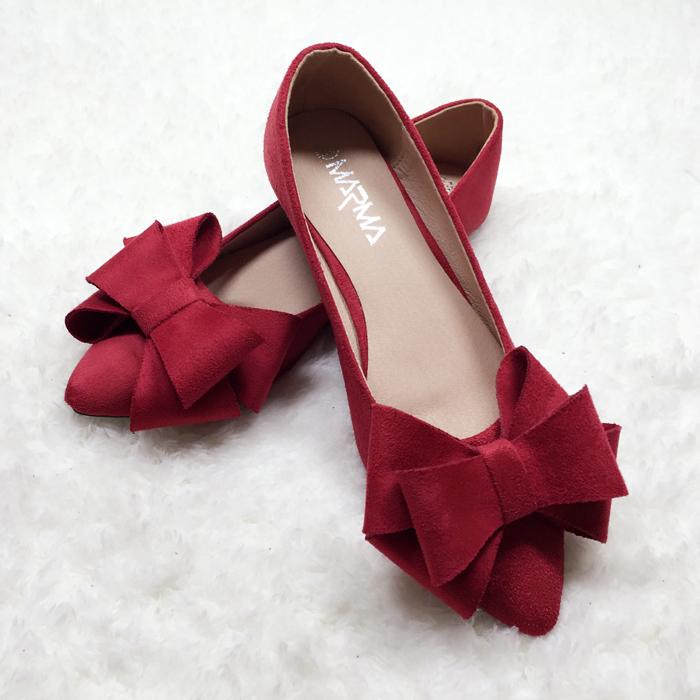 蝴蝶结婚鞋新娘鞋