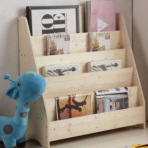 实木简易儿童书架宝宝学生书报架幼儿园绘本展示架杂志架整理书架
