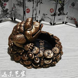 Retro Lucky Gold 蟾 Ashtray Personality Office Crafts Decoration Boyfriend Family Birthday Gift