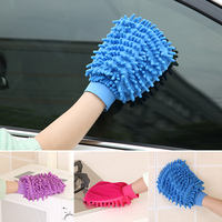 Household double-sided special car tool brush car cleaning gloves thick plush chenille wipe car hand wipes
