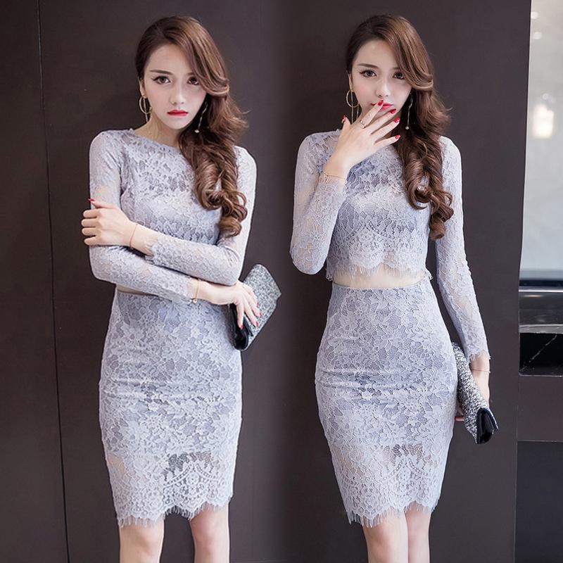 初秋蕾丝连衣裙