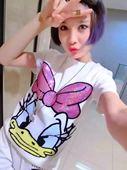 chic社会韩版 短袖 卡通亮片纯棉上衣打底小衫 T恤女装 2018夏季新款