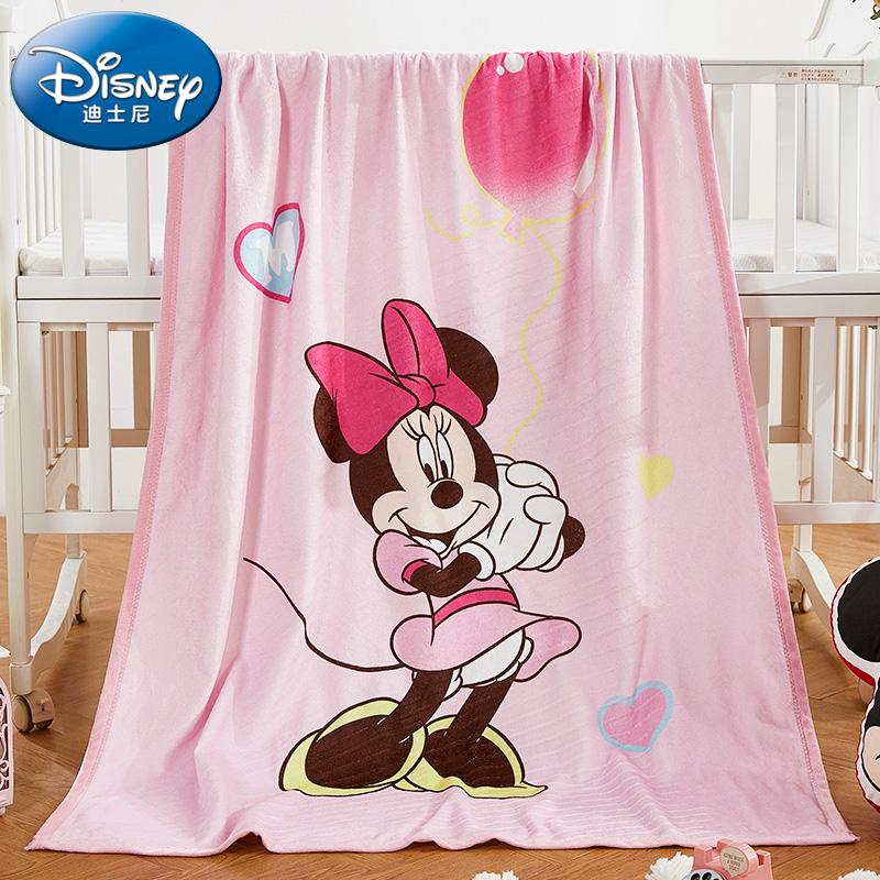 迪士尼婴儿毛毯新生儿童春秋法兰绒幼儿园宝宝空调房午睡薄被盖毯