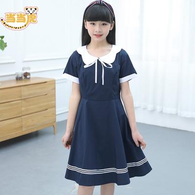 中大童女童夏装2018新款12女孩13儿童连衣裙15岁夏季洋气学生裙子
