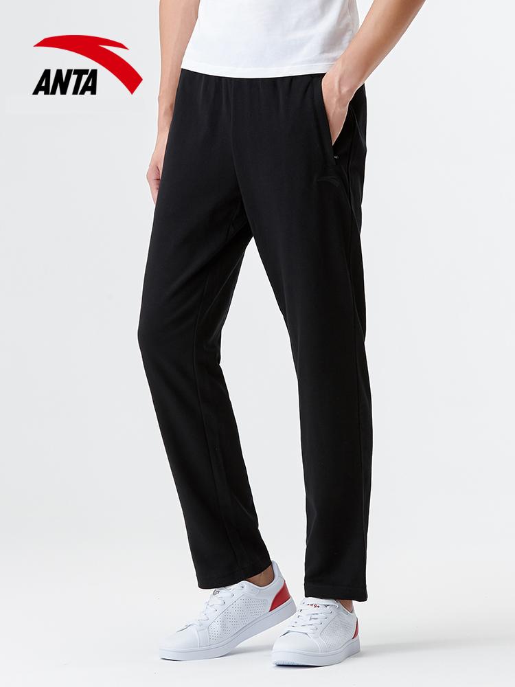 安踏男装夏季运动套装 2019新款男士休闲健身长裤透气速干短袖T恤