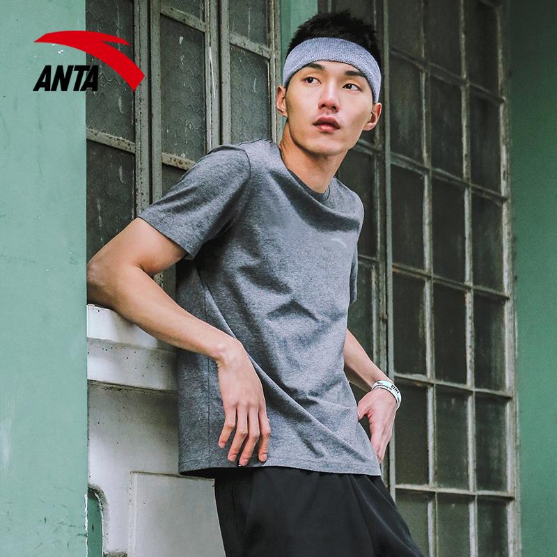 安踏短袖男装夏季2019新款宽松半袖体恤官网速干上衣白运动T恤男
