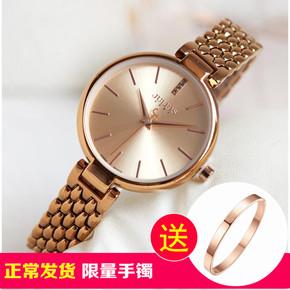 聚利时julius品牌新款大盘钢带手表简约时尚薄款手链石英女表防水