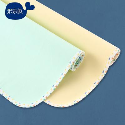 米乐鱼隔尿垫全棉加大婴儿尿垫防水透气四季儿童用品可洗新生儿