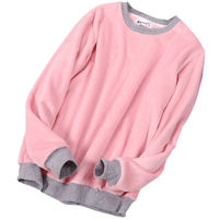 Pajamas women's winter flannel tops single-piece long-sleeved round neck pullover thick coral fleece cute sweet home service