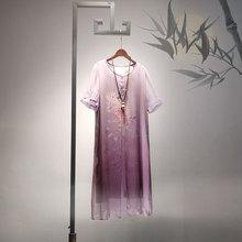 40岁民族风女装雪纺连衣裙女2019新款夏季装夏天有女人味的裙子图片
