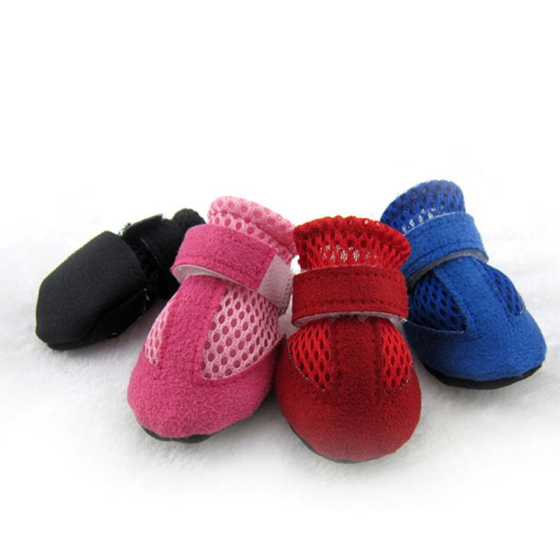 包邮狗宠物鞋子夏季泰迪鞋一套4只透气软底凉鞋小型犬好穿不掉图片