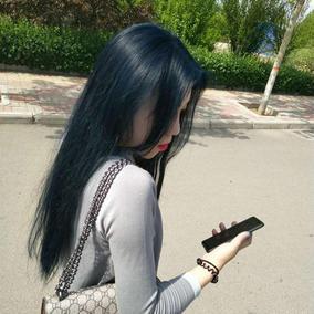 不褪色暗蓝色染发膏天赋异禀北极星小姐姐同款墨绿色孔雀绿不伤发