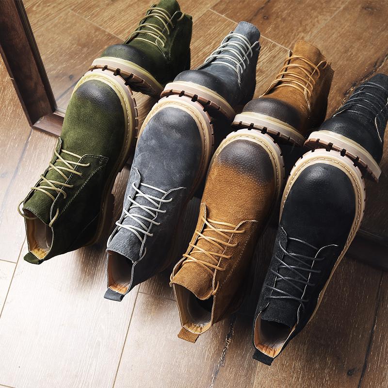 马丁靴男靴英伦皮靴子男士雪地短靴棉鞋工装军靴男鞋冬季加绒保暖
