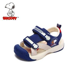 史努比童鞋男童凉鞋包头2019夏季新款儿童凉鞋中小童宝宝机能凉鞋