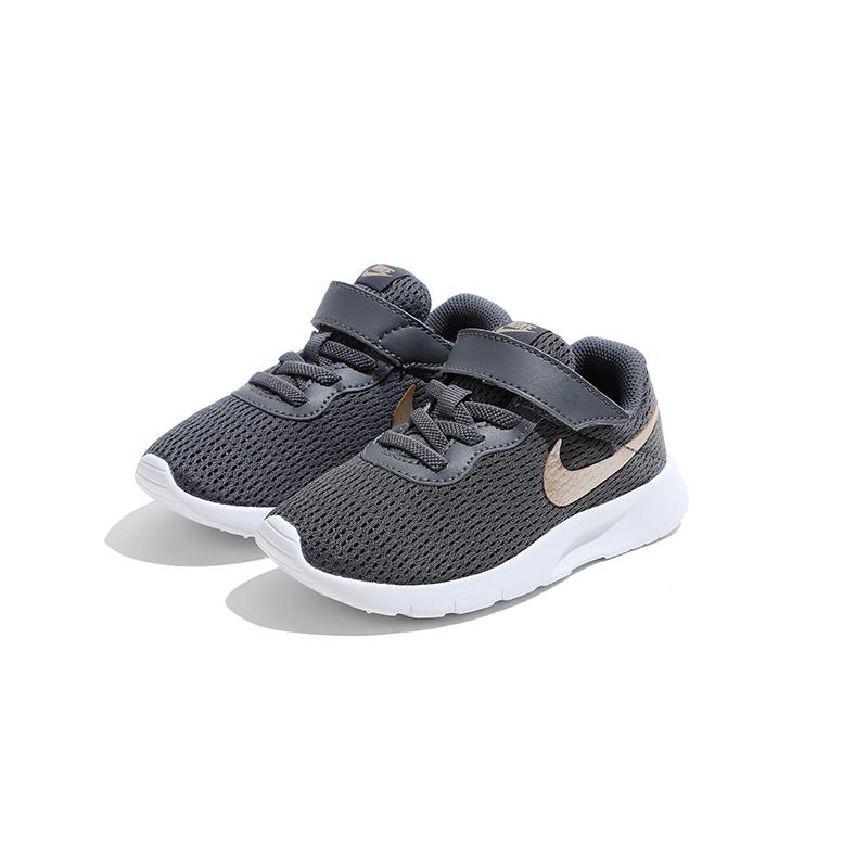 Nike耐克童鞋2019新款夏男女童网眼鞋中大童透气运动鞋AO9603 001