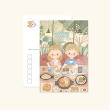 Chara小超市明信片合辑原创可爱手绘插画小清新贺卡装饰小卡片