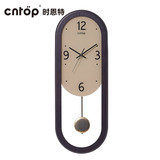 Cntop creative modern clock mute wall clock personality fashion clock atmosphere simple living room bedroom European clock