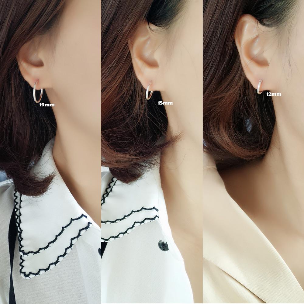 防过敏睡觉不用摘的耳钉女气质韩国个性简约百搭圆圈耳环耳圈男潮