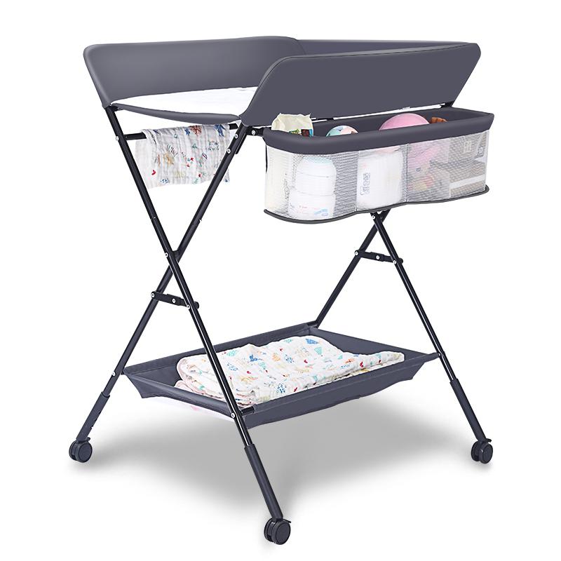 贝鲁托斯婴儿换尿布台按摩护理台新生儿宝宝抚触台可折叠收纳便携