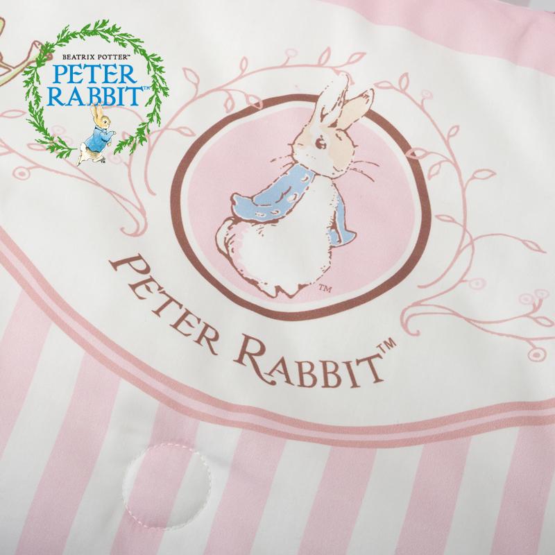 到手价328元 英国比得兔条纹婴儿被宝宝两用被子可脱胆儿童被床品