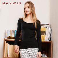 MAXWIN马威打底衫女秋冬显瘦修身打底上衣简约百搭T恤弹力莫代尔