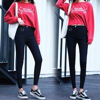 晶滢2018女裤韩版高腰魔术裤打底裤大码休闲裤女修身显瘦铅笔裤