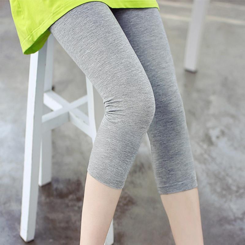百搭灰色7分裤