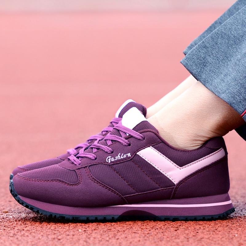 运动鞋女春秋老人鞋防滑软底中老年健步鞋轻便休闲妈妈鞋跑步鞋女