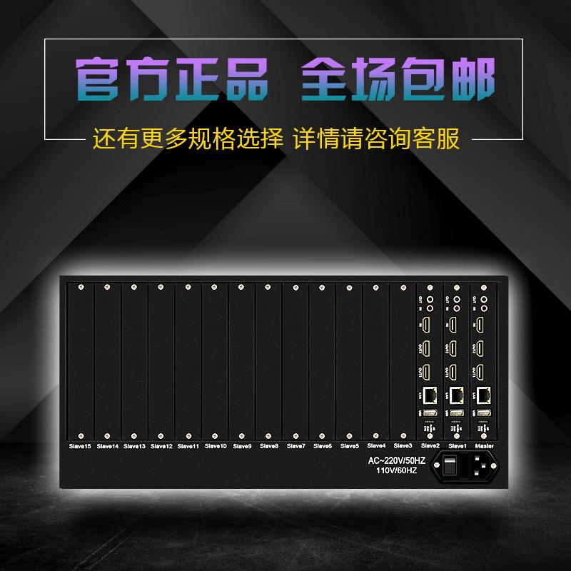 6屏4K数字视频解码器网络高清拼接开窗漫游监控画面分割上墙叠加