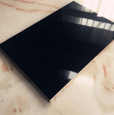 千年舟15mm单面高光镜面纯黑色UV 板 烤漆板 淋漆板 柜门板黑板