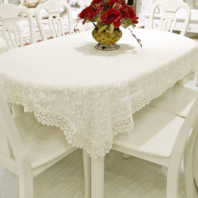 棉麻餐桌布艺蕾丝布