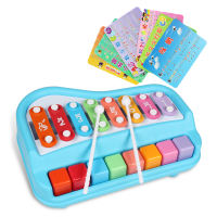 Polaroid happy big xylophone 8 sound knocking piano puzzle young children hand knock piano baby baby music toys 1-2 years old