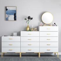 六斗橱特价5纯实木五斗柜卧室缓冲抽屉收纳柜现代中式金丝木储物