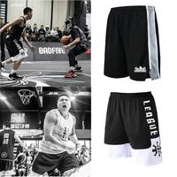 篮球裤男短裤过膝骚气个性定制球裤街头路人王一战成名篮球运动裤