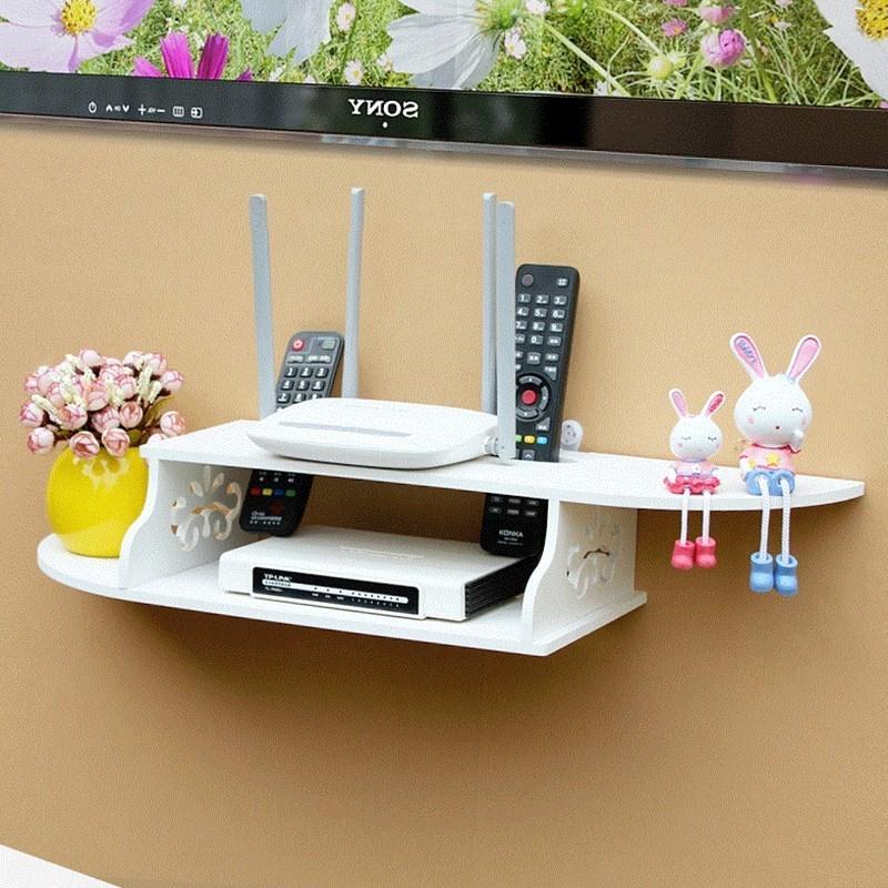 可爱儿童置物架搁板装饰架电视搁架放省空间简易洗手间投影仪桌上