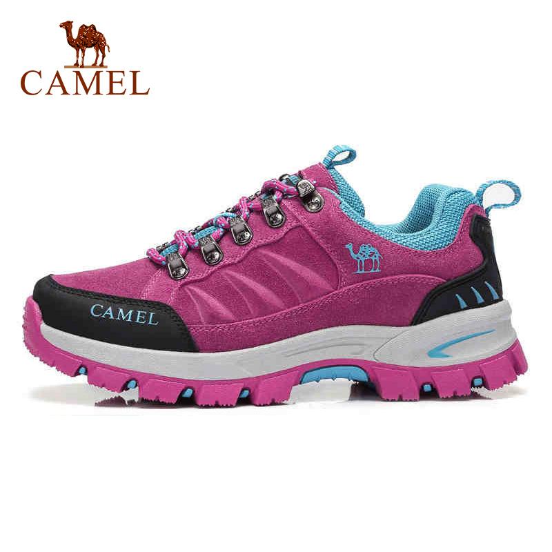 骆驼户外登山鞋女秋冬休闲徒步鞋爬山防滑减震系带女士运动鞋子