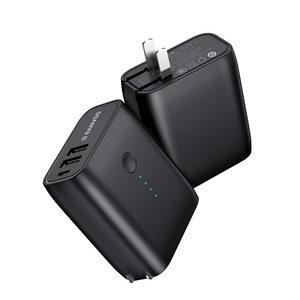 锐舞充电宝充电器二合一迷你便携自带插头移动电源手机华为超薄苹果x小巧7Plus从可带上飞机iPhone小米XS max