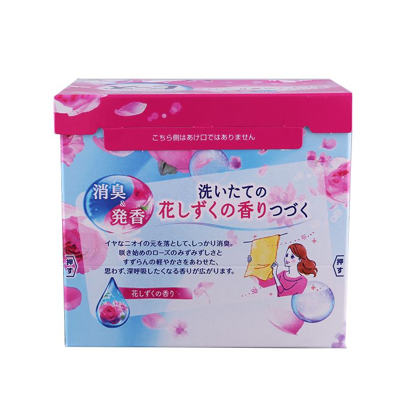 日本进口花王KAO洗衣粉含柔顺剂无荧光剂无磷玫瑰香