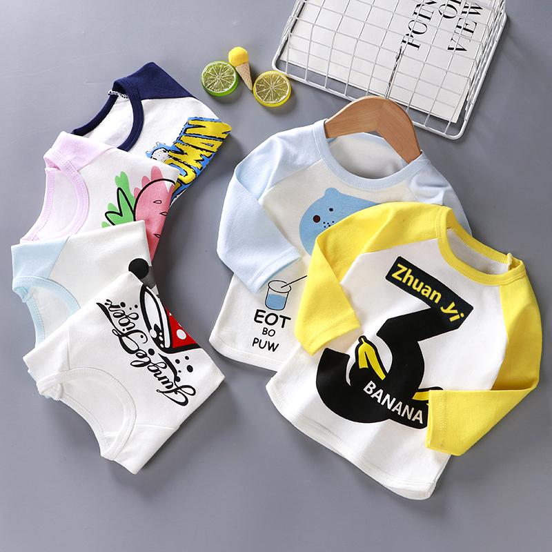 儿童长袖T恤纯棉秋季新款童装婴儿衣服女童打底衫3岁男宝宝上衣春