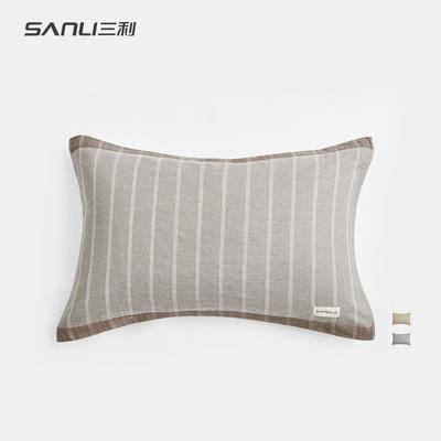 三利高档欧式纱布枕巾纯棉双人学生一对成人情侣通用包邮枕头巾