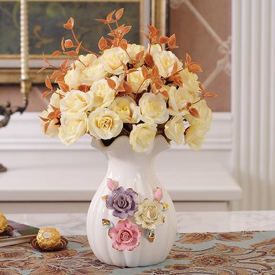 欧式陶瓷花瓶摆件家居餐桌客厅电视柜装饰品现代简约工艺品水培小旗舰店网址