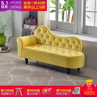 簡約貴妃椅歐式布藝沙發小戶型組合雙人沙發單人店鋪臥室床尾凳子品牌資訊