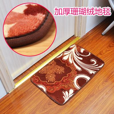 进门吸水防滑门垫地毯脚垫玄关垫子加厚欧式珊瑚绒卧室客厅地垫图片